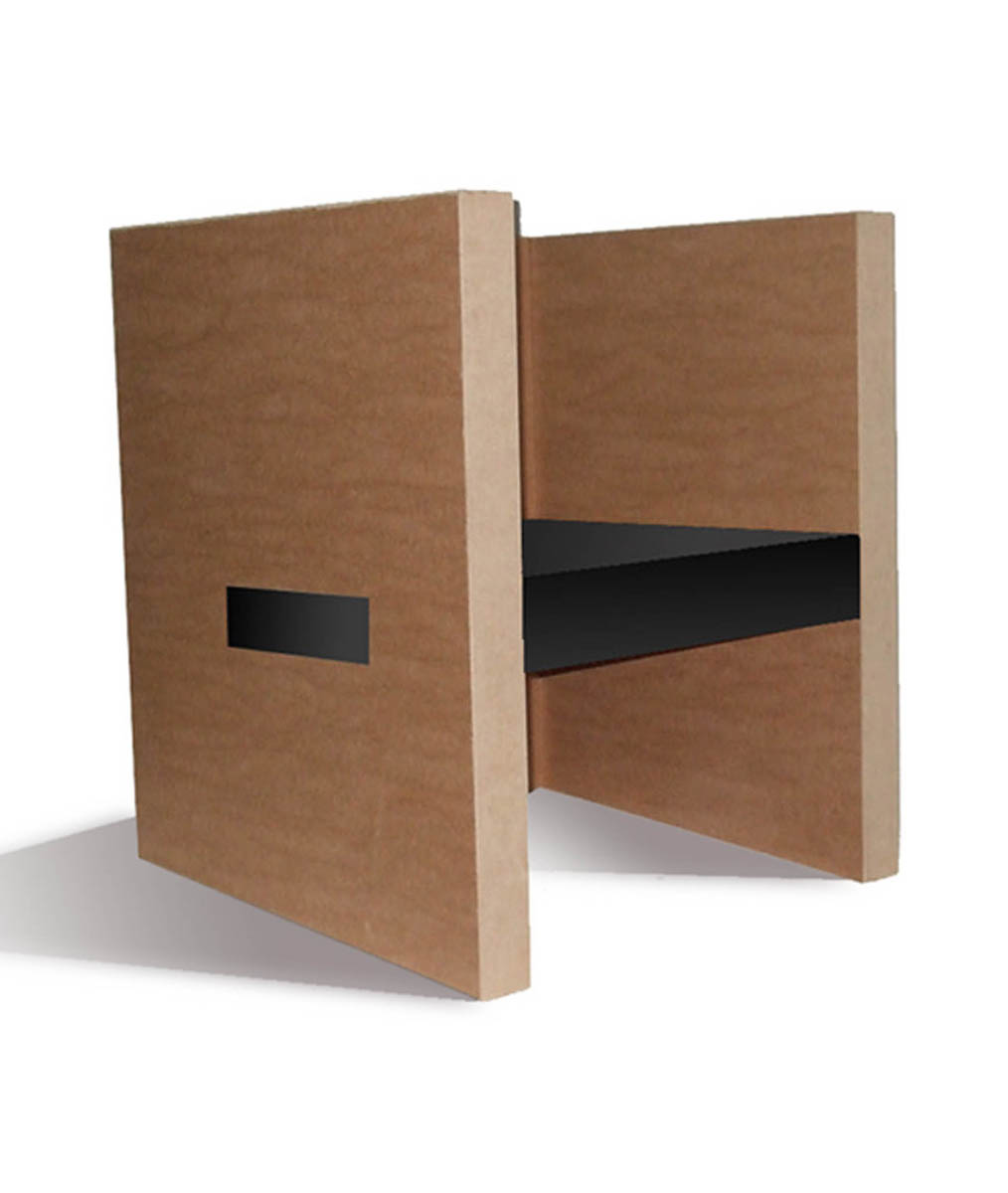 fauteuil de bureau chauffeuse en carton alv olaire cube adulte. Black Bedroom Furniture Sets. Home Design Ideas