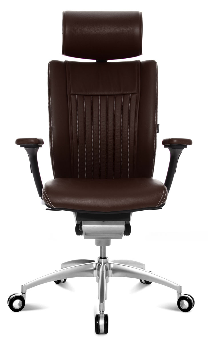 Fauteuil direction cuir titan confort wagner - Fauteuil cuir marron ...