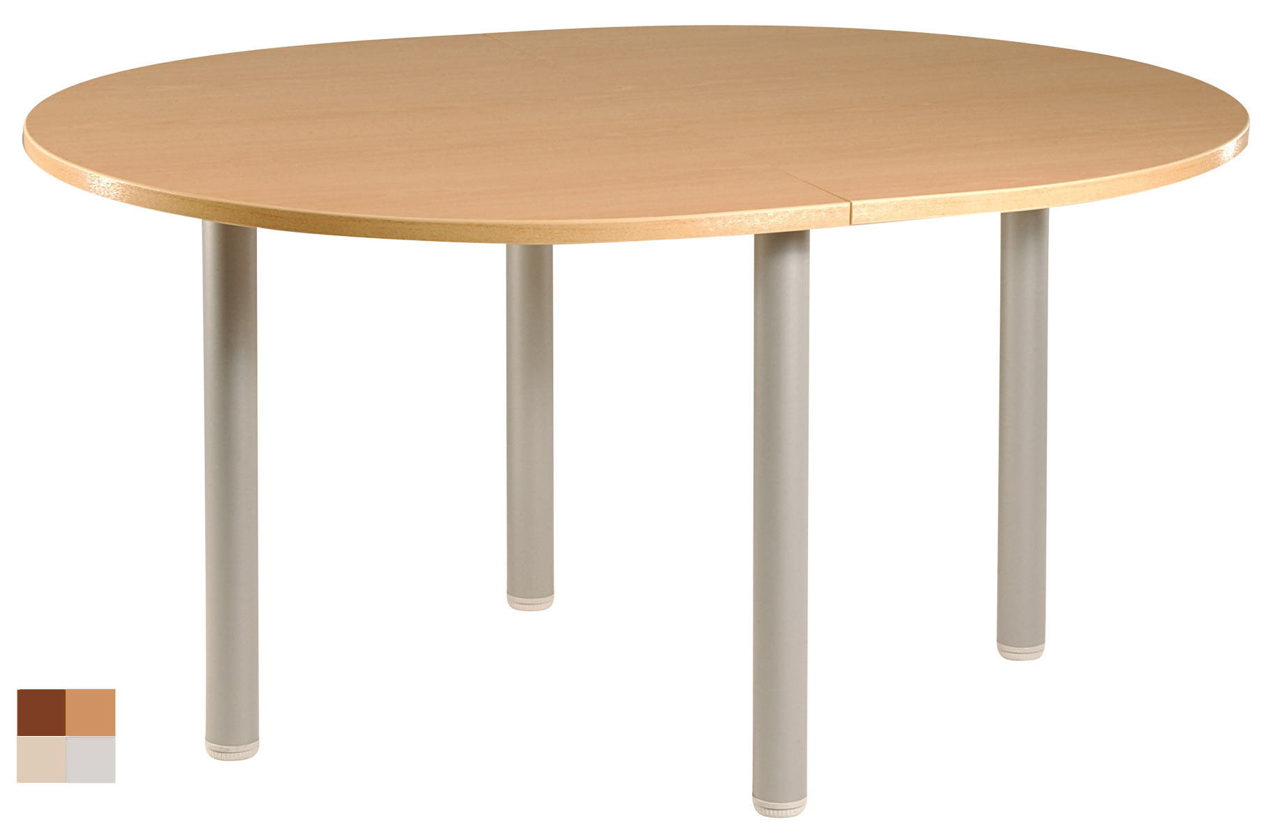 Table ovale modulaire somero for Table 6 personnes dimensions