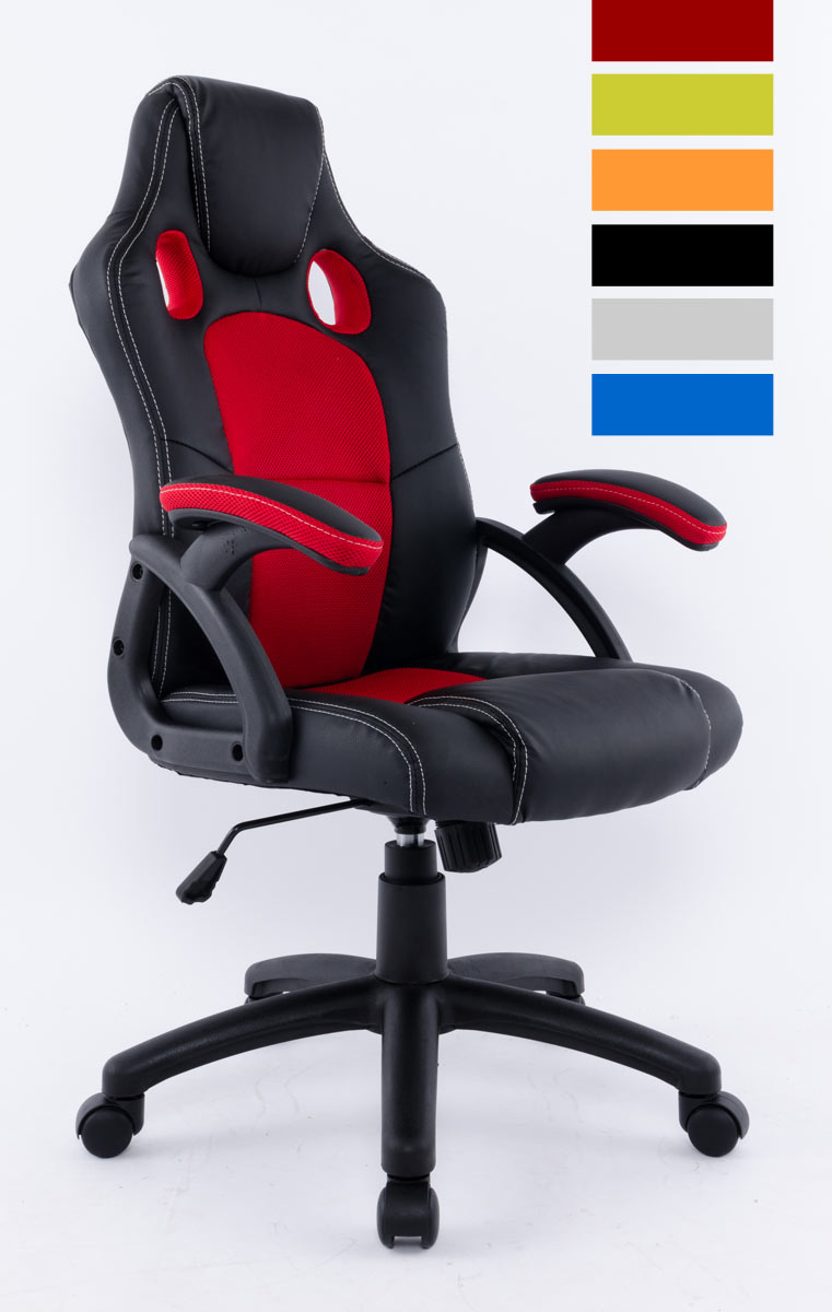 fauteuil de bureau baquet bicolore racing disponible en 6 coloris. Black Bedroom Furniture Sets. Home Design Ideas