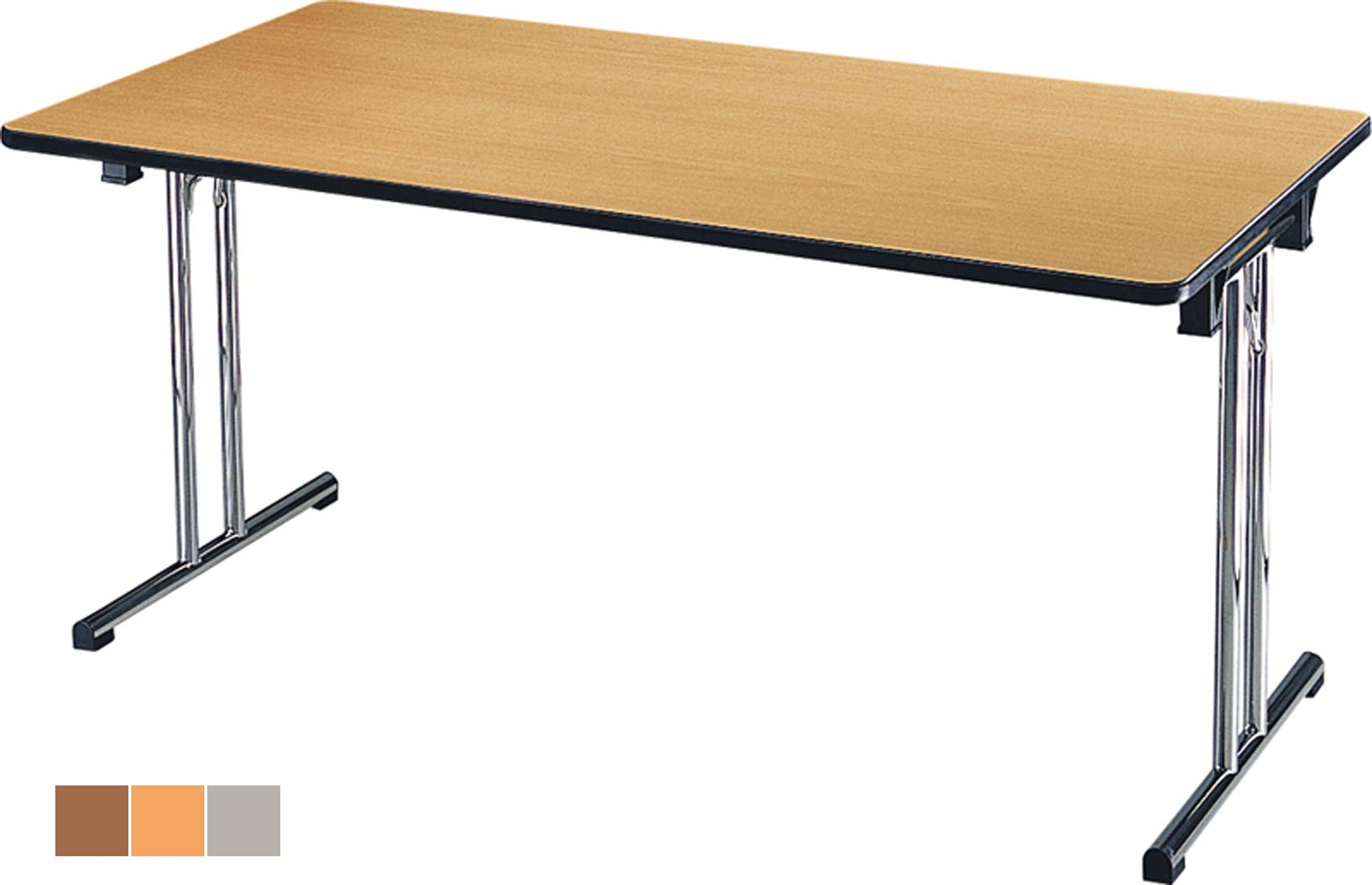 Table pliante rectangulaire alavus pour bureau ou r union - Tables pliantes castorama ...