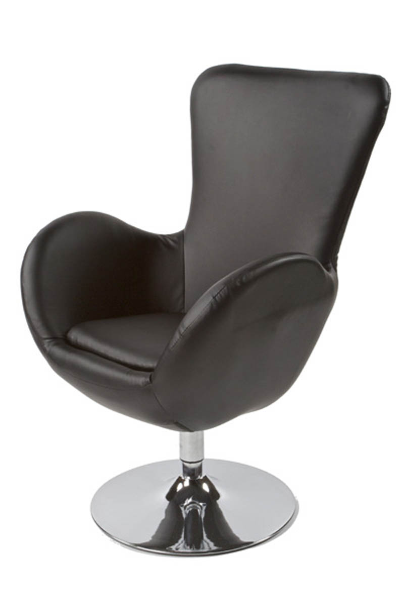 Fauteuil de salon design en similicuir skara 2 coloris for Bureau de salon