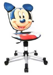 chaise de bureau mickey pour enfants de 3 10 ans. Black Bedroom Furniture Sets. Home Design Ideas